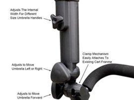 Golf Umbrella Holder Deluxe- Adjustable - Golf Cart Umbrella Holder Bore Diameter 22mm