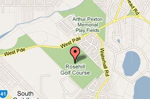 Map of Rosehill Golf Club