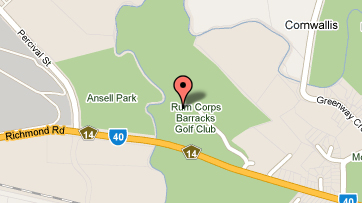Map of Rum Corps Barracks Golf Course