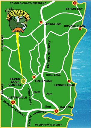 Map of Teven Valley Golf Course