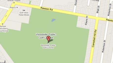 Map of Woodville Public Golf Course