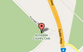 Map of Armadale Country Club