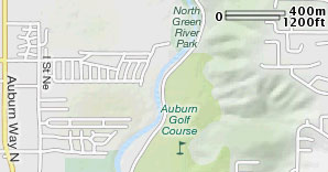 Map of Auburn Golf Course