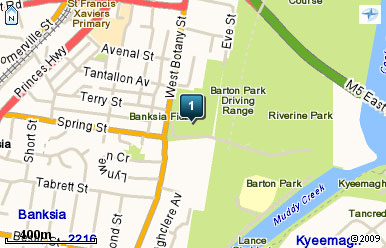 Map of Barton Park Golf Range