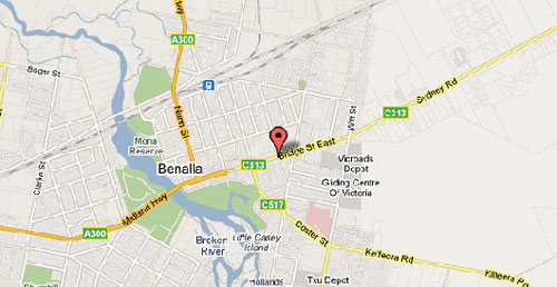 Map of Benalla Golf Club