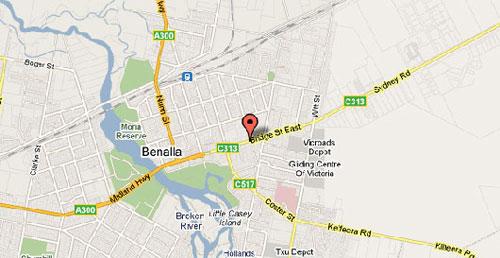 Map of Benalla Golf Club