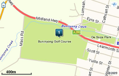 Map of Buninyong Golf Course