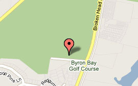 Map of Byron Bay Golf Club