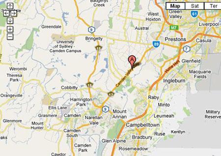 Map of Camden Valley Golf Resort