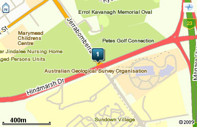 Map of Canberra International Golf Centre