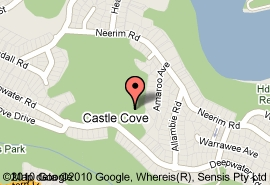 Map of Castle Cove Country Club