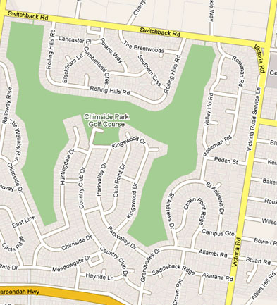 Map of Chirnside Park Country Club