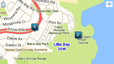 Map of Coast Golf Club