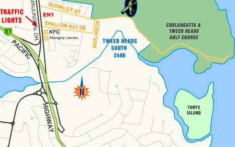 Map of Coolangatta & Tweed Heads Golf Club