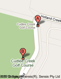 Map of Cudlee Creek Golf Course