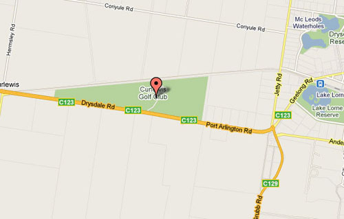Map of Curlewis Golf Club