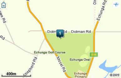 Map of Echunga Golf Club