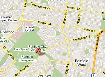Map of Fairfield Golf Course