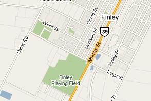 Map of Finley Golf Club