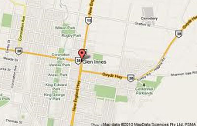 Map of Glen Innes Golf Club
