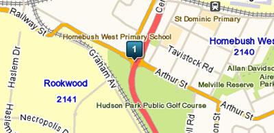 Map Of Hudson Park Public Golf Course