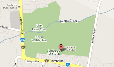 Mapof Jamberoo Golf Club