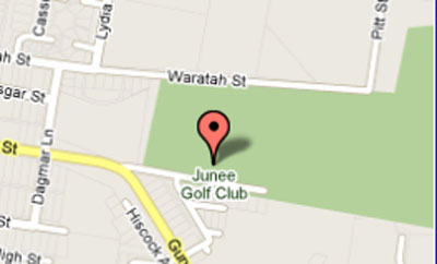 Map of Junee Golf Club