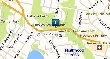 Map of Lane Cove Golf Club
