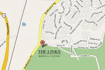 Map of Links Shell Cove