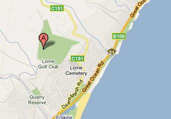 Map of Lorne Country Club