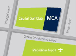 Map of Melbourne Golf Academy