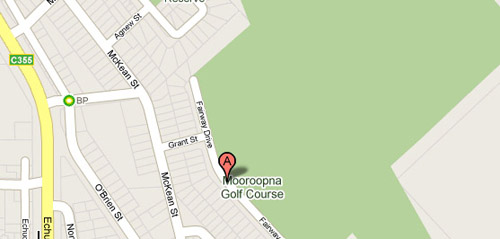 Map of Mooroopna Golf Club