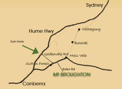 Map of Mount Broughton Golf Club