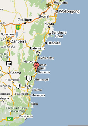 Map of Narooma Golf Club