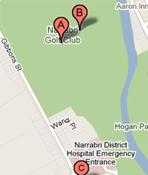 Map of Narrabri Golf Club