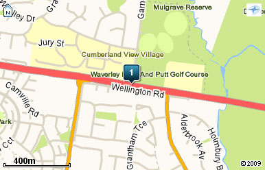 Map of Pitch & Putt Golf Waverley