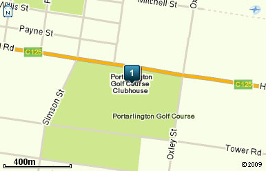 Map of Portarlington Golf Club