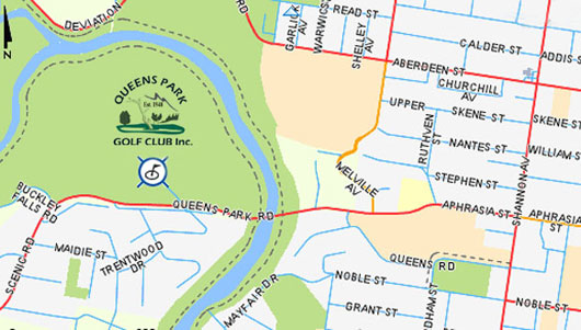 Map of Queens Park Golf Course