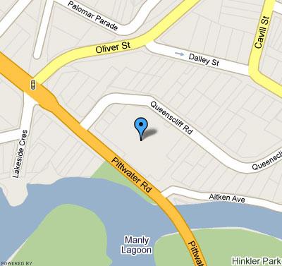 Map of Queenscliff Golf Club