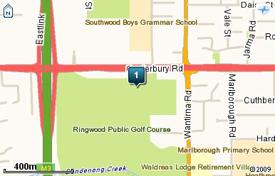 Map of Ringwood Golf Course