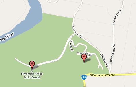 Map of Riverside Oaks Golf Course