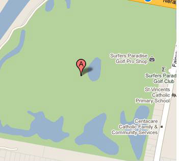 Map of Surfers Paradise Golf Club