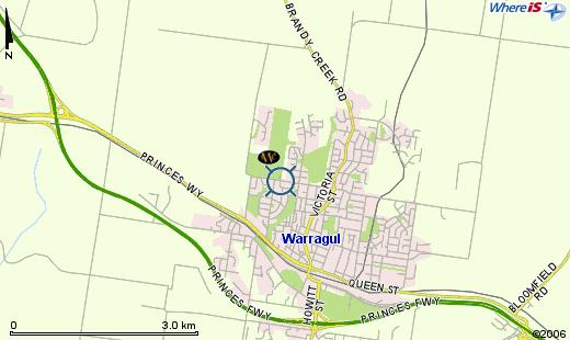 Map of Warragul Golf Club