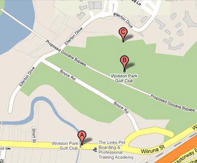 Map of Wolston Park Golf Club