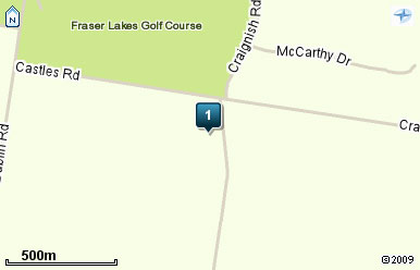 Map of Fraser Lakes Golf Course