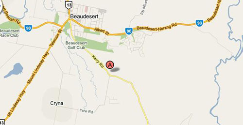 Map of Beaudesert Golf Shop
