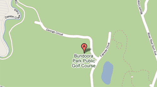 Map of Bundoora Park Public Golf Course