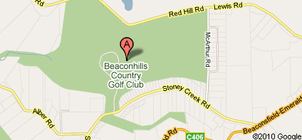 Map of Cardinia Beaconhills Golf Club