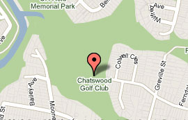Map of Chatswood Golf Course