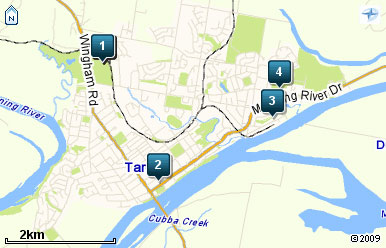 Map of Club Taree